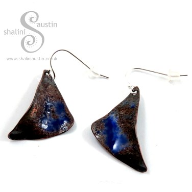 Enamelling Copper Part 2 - One-Off Enamelled Copper Earrings: