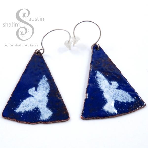 Enamelling Copper Part 2 - 'Doves' Enamelled Copper Earrings