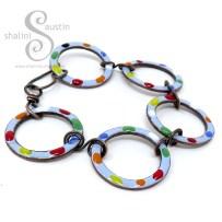 Tutti-Frutti Enamelled Copper Bracelets