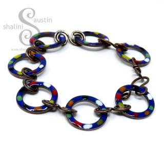 Enamelled Copper Bracelet Royal Blue - TUTTI FRUTTI