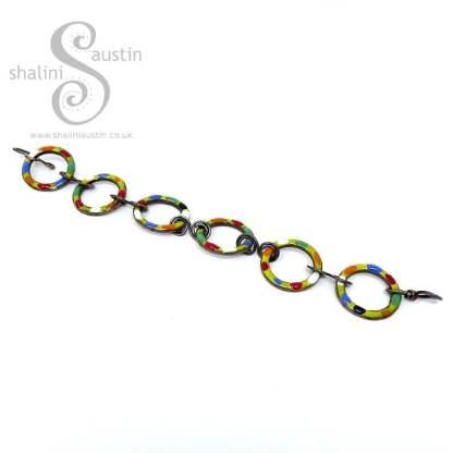 Enamelled Copper Bracelet TUTTI FRUTTI – Yellow