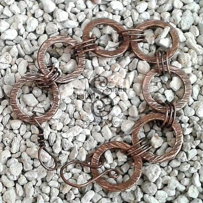 Antique Finish Copper Circles Bracelet DENISE