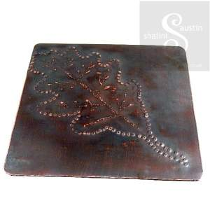 Copper Coaster: Oak Leaf