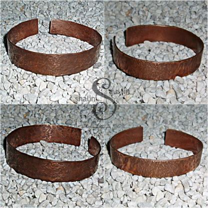 Unisex, Handcrafted Hammered Copper Cuff Bracelet