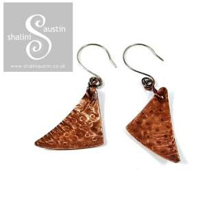 Sold: Copper Earrings: Mismatched