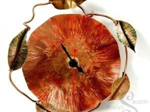 Copper Wall Clock POPPY