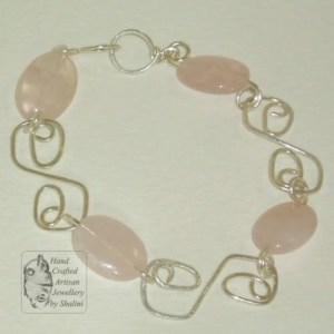 Rose Quartz Bracelet: S-Link