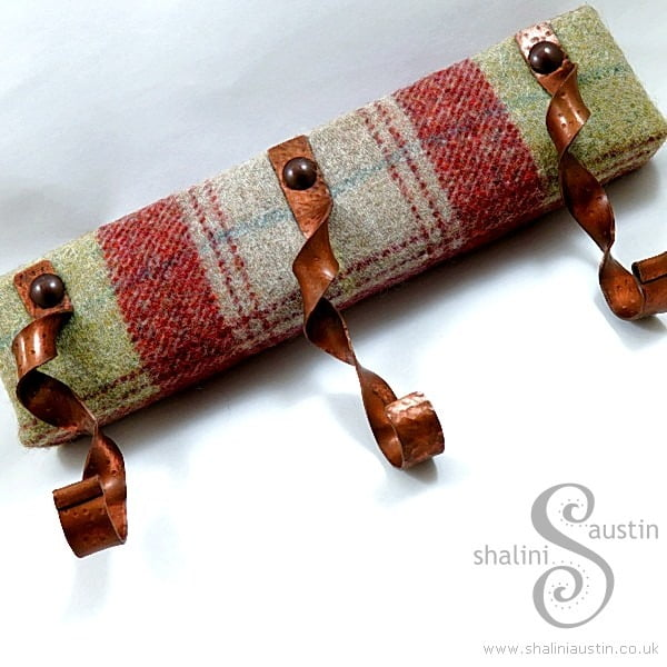Tea Towels & Keys Rustic Copper Hooks