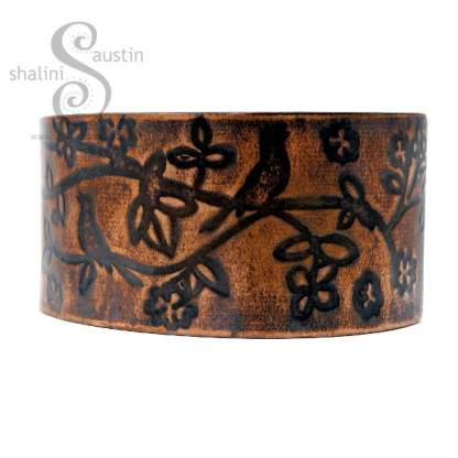 Limited Edition Wide Copper Cuff BIRDSONG