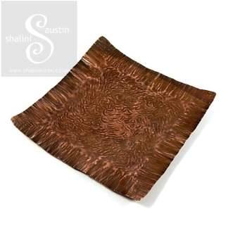 Copper Trinket Tray: Square Dish