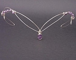 Amethyst and Freshwater Pearls Circlet