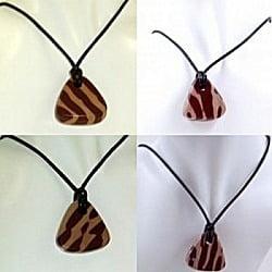Zebra Stone Pendants