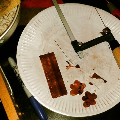 Sawing Copper