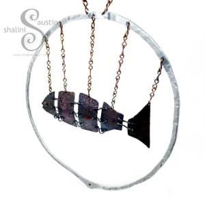 Copper Fish In Aluminium Ring