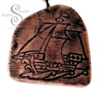 Embossed Copper Keyring PIRATE SHIP