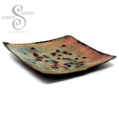 Enamelled Copper Trinket Tray (01)