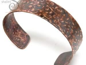 Hammered Rustic Unisex Copper Cuff 04