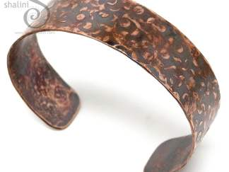 Hammered Rustic Unisex Copper Cuff 04