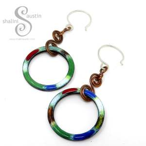 TUTTI FRUTTI Colourful Copper Earrings