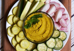Carrot Top Hummus (vegan, grain free, oil free)