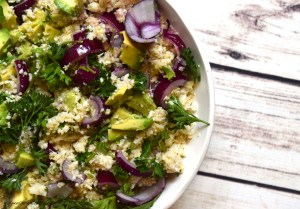 cauliflower rice salad artichoke sauce #vegan #grainfree #highfatlowcarb