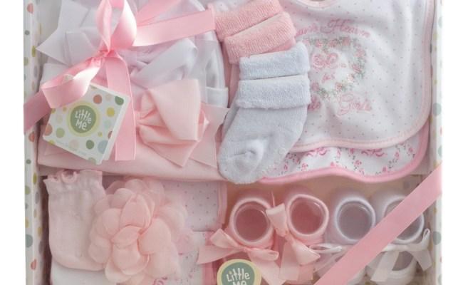 Little Me 13 Piece Newborn Baby Girl Essentials Gift Set