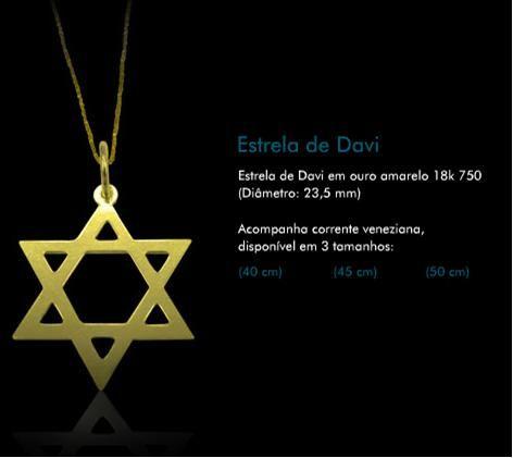 Colar Estrela de Davi  Loja de Shalom Jias