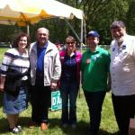 Hanging out w/ @StateRepLouLang, @RepLauraFine and Commissioner Larry Suffredin at the @ChiJFest