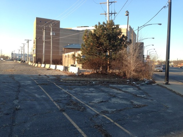An empty lot near West Devon Avenue and McCormick Boulevard has been untouched in nearly a decade. The Metropolitan Water Reclamation District, which owns the property, hopes to get funding approved to renovate it into a productive space for the public. (Jewish Community Council of West Rogers Park)