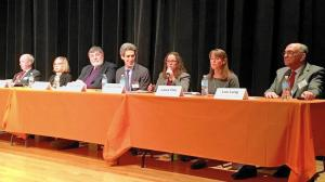Local, regional and national legislators talked about the state of mental health care Friday Feb. 10, 2017 at a forum sponsored by Turning Point Behavioral Health Care Center held at the Skokie Public Library. (Mike Isaacs / Pioneer Press)