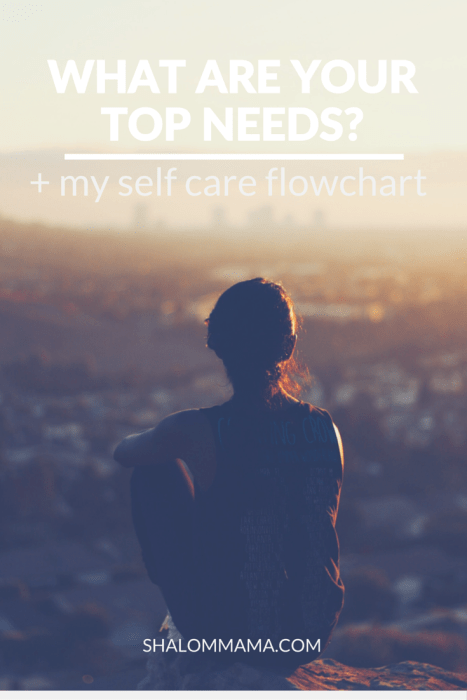 What are your top needs? + my self care flowchart