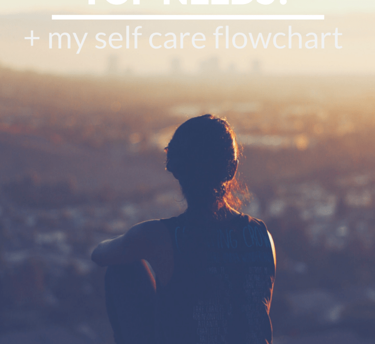 What are your top needs? (+ my self care flowchart)