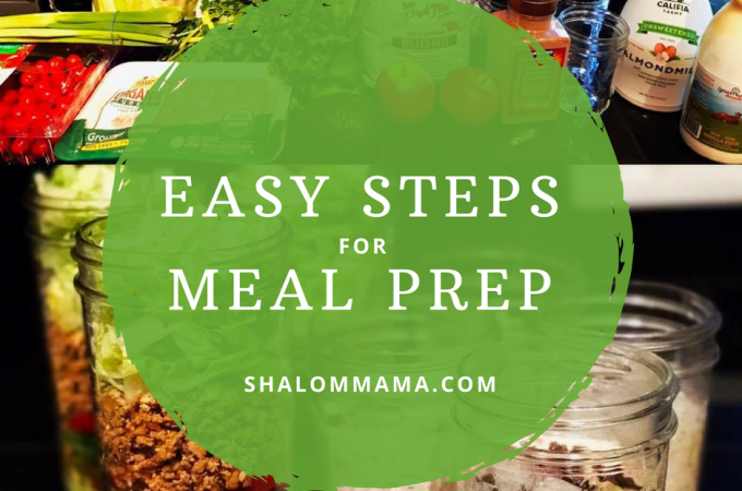 Easy steps to meal prep