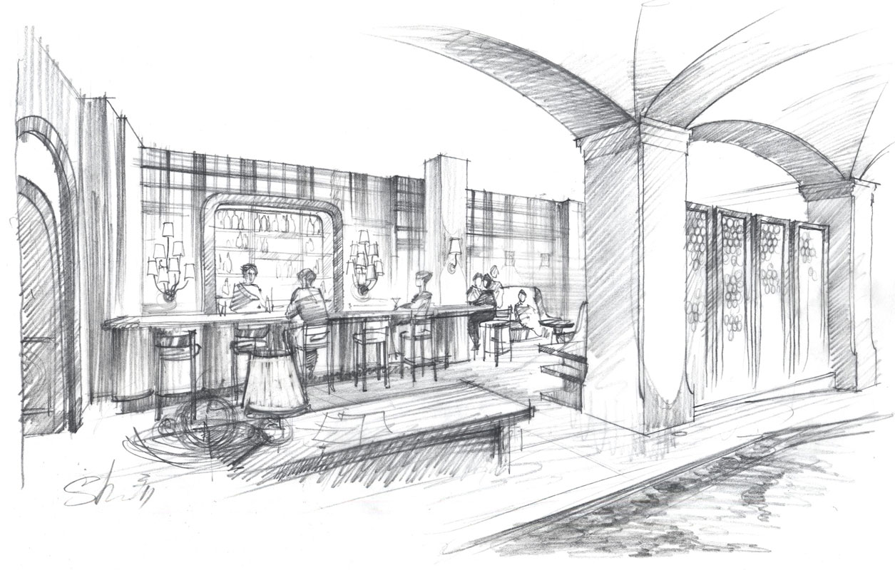 Pencil Architectural Renderings Amp Sketches