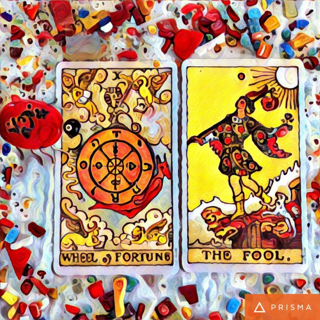 Mystique-of-tarot-cards-reader-#fridayfiction-The fool-wheel of fortune - Tarot-Reader