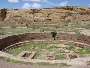 Chaco Canyon is a remote site today, but once was a urban center for the Anasazis.