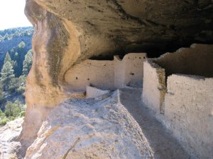 Gila Cliff Dwelling National Monument.  One of 100's of dwellings in the Gila River Valleys.