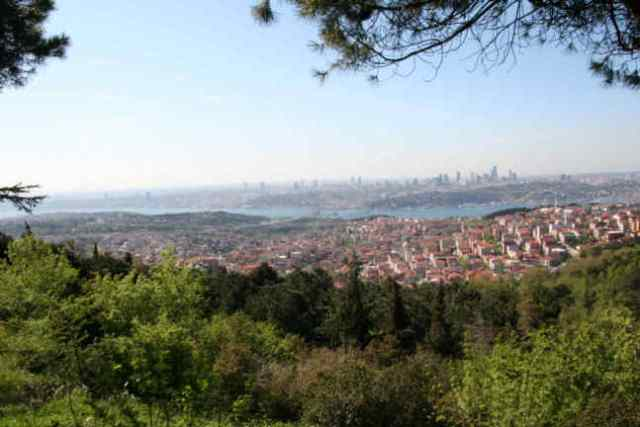 Istanbul, a city of 13 million, as seen from Camlica Hill