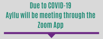 Due to COVID-19 We will be meeting through the Zoom app