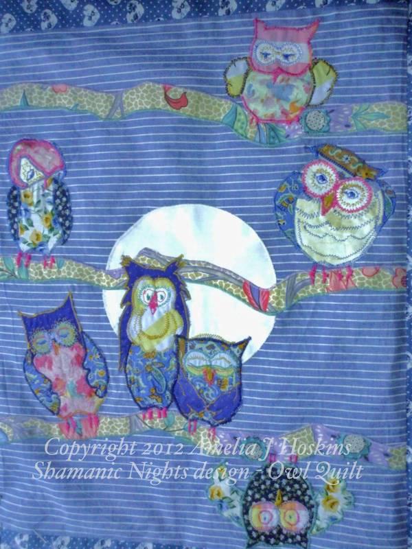 Owl quilt 1 all owls scene