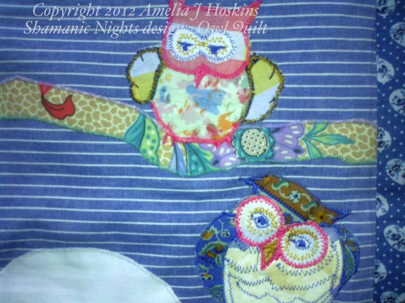 Owl quilt 1 top right owl
