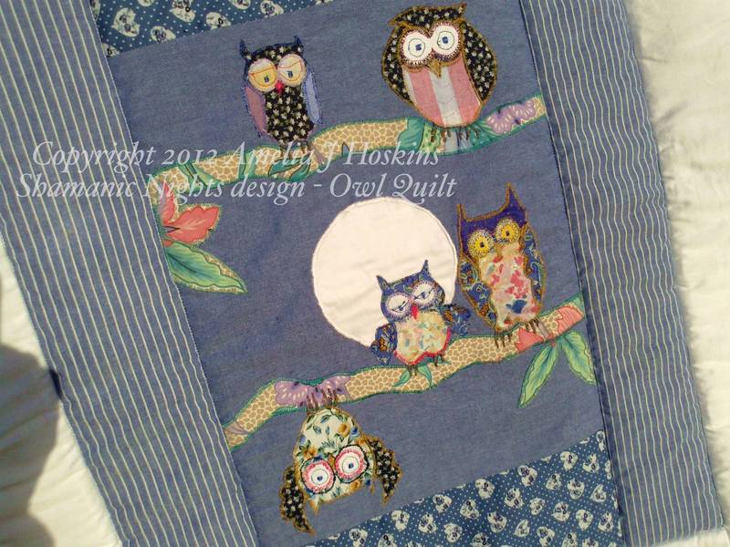 Owl quilt 2 baby centre moon