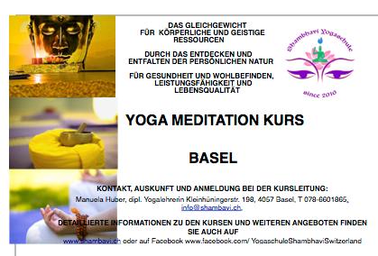 Yoga Meditation Kurs Basel