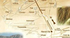 Карта расположения рисунков пустыни Наска.
