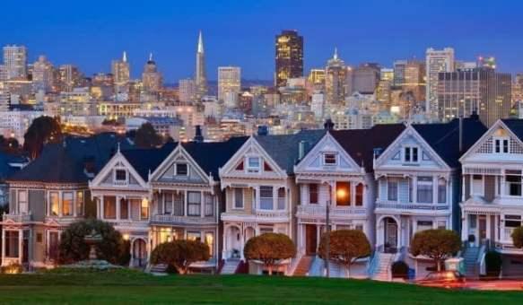 Сан-Франциско вечером.