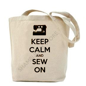 Keep Calm And Sew On Tote