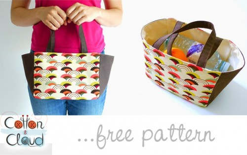 Easy Lunch Tote Bag by Cotton Cloud
