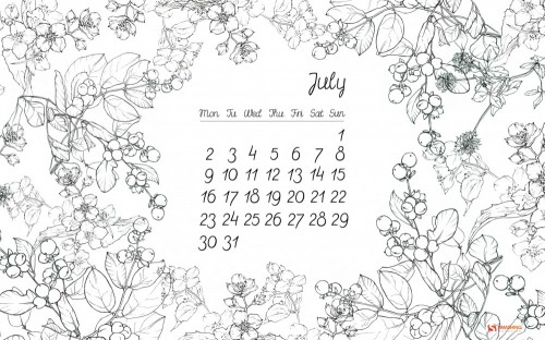Floral Thing Wallpaper Calendar