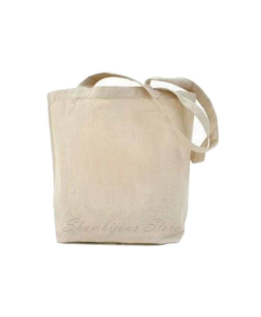 Plain Tote Bag With Fabric Strap x Canvas x Size M *made to order*