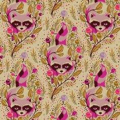 (Tula Pink) Acacia, Raccoon In Canyon